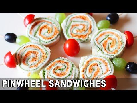 pinwheel sandwich recipe | veg pinwheel sandwich