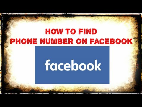 How to find someone phone number on facebook // 100 % working