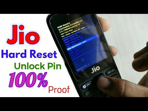 Jio 4G Phone HARD RESET / UNLOCK PIN (F90M) 100% Work