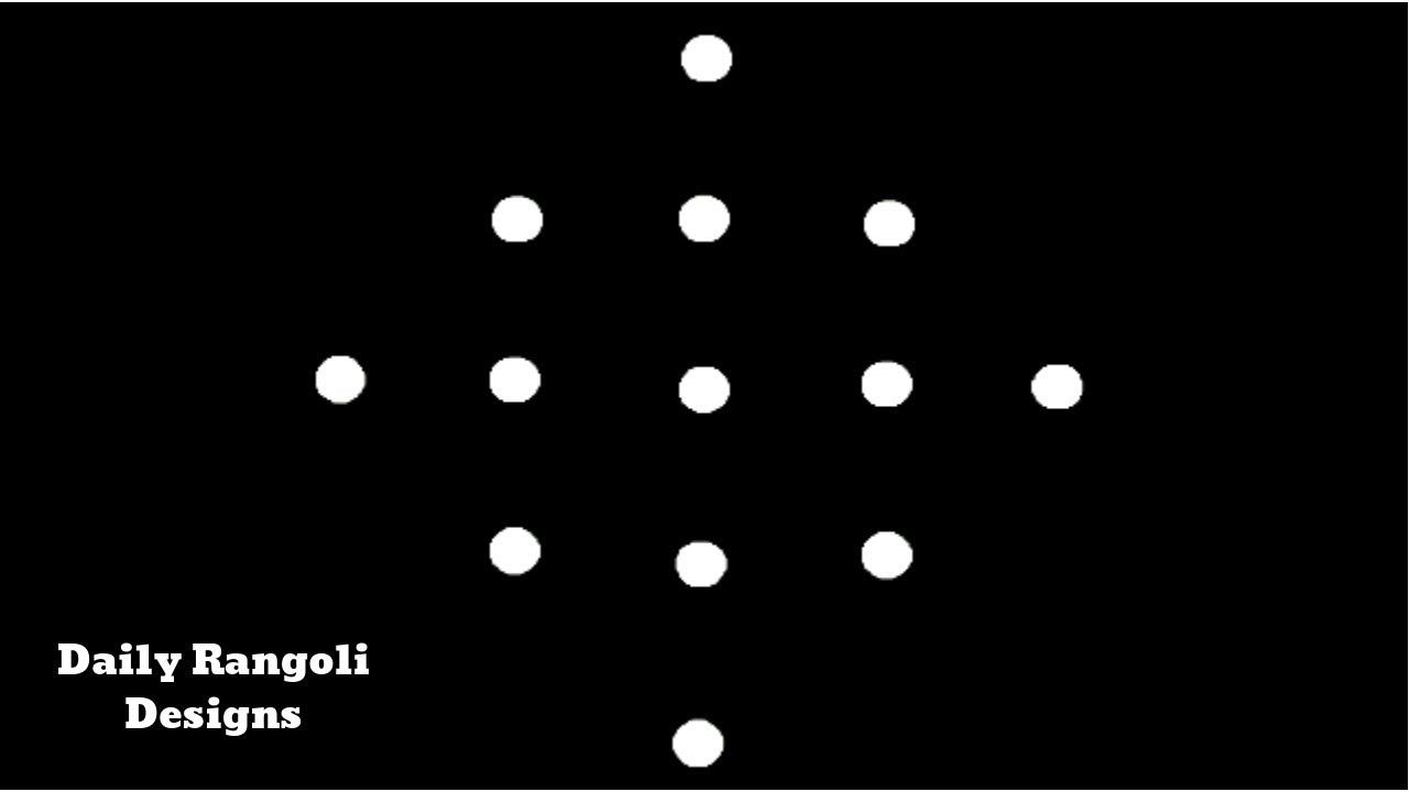 Download Beautiful Simple Padi Kolam Designs with 5X1 Dots  Easy Muggulu Kolam Rangoli  Easy Kolangal #929 MP3 Gratis