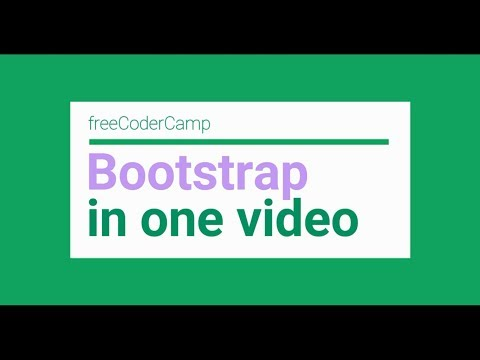 freeCodercamp: Bootstrap solutions in one video