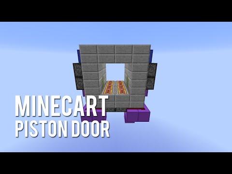Redstone: Minecart Piston Door [Tutorial]