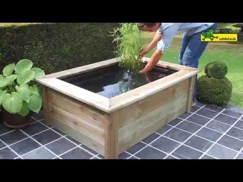Ubbink patio pond Quadra Woodframe