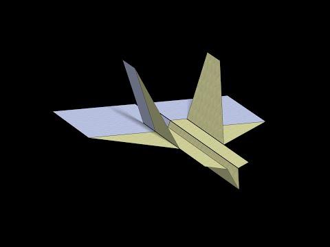 Wildebeest Paper Airplane: 3D Folding
