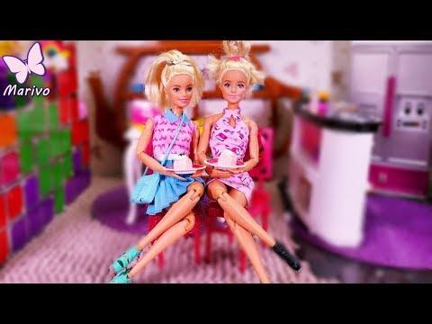 Bajka bliźniaczki Barbie 💙 KUCHENNE WARIACJE 💙 PORANNA RUTYNA 💙 Bajka po polsku z lalkami