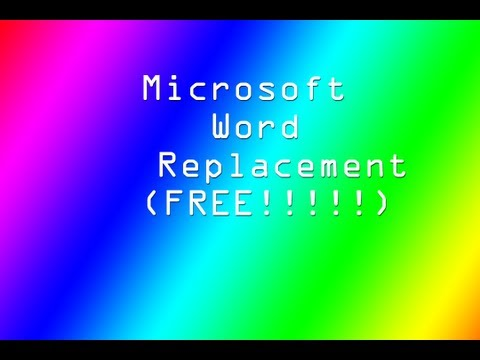 Microsoft Office Word Replacement