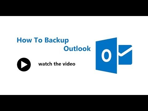 How to backup outlook mails, calander | Outlook 2013 Tips
