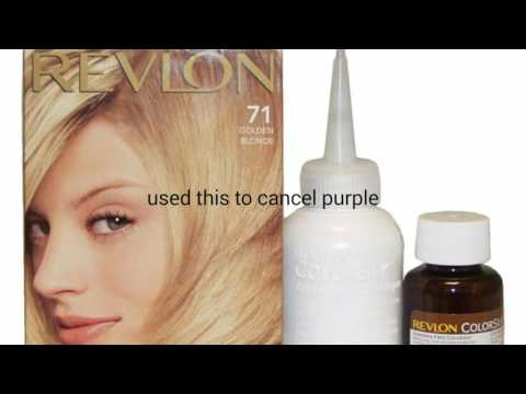 How to: remove blue or purple hair dye