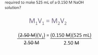 Dilution Problems Chemistry Tutorial
