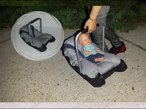 How to make a Doll Baby Car Seat