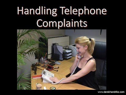 Handling Telephone Complaints - Video Tutorial