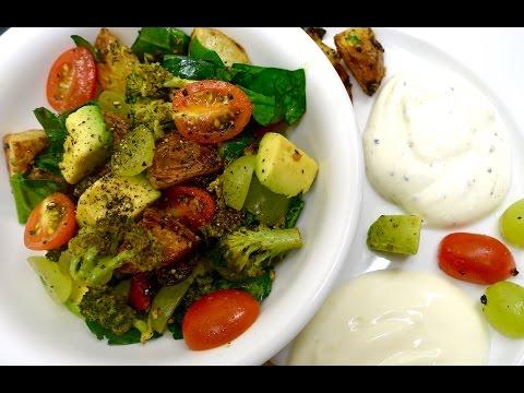 SuperHealthy Roasted VEGETABLE SALAD + 2 Salad Dressings (DeepikaKheri's Kitchen)