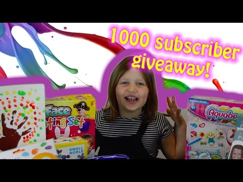 Massive Giveaway - What's Inside?!? | 1000 Subscribers | Amelia's Crafty Corner