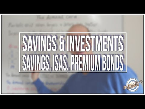 LA A. Different types of savings & investments: savings, ISAs & Premium bonds