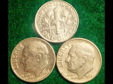1965-1967 Roosevelt Dimes - All Mintages In The Billions