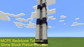 How To Make Up And Down Piston Elevator V 2 Redstone Tutorial