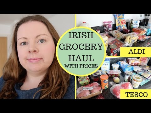 IRISH GROCERY HAUL WITH PRICES    ALDI & TESCO    OVERSPEND ON BUDGET