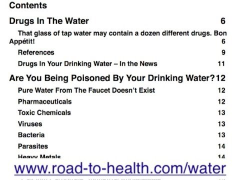 Take Charge of Your Drinking Water, Now, Before You Get Sick