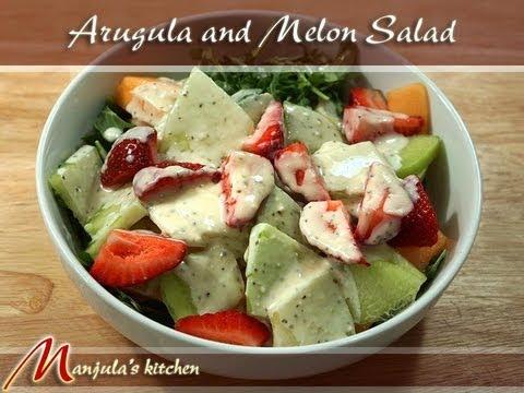Arugula and Melon Salad Recipe by Manjula