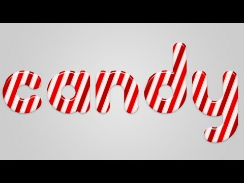 Christmas Candy Cane Text Effect in Photoshop |