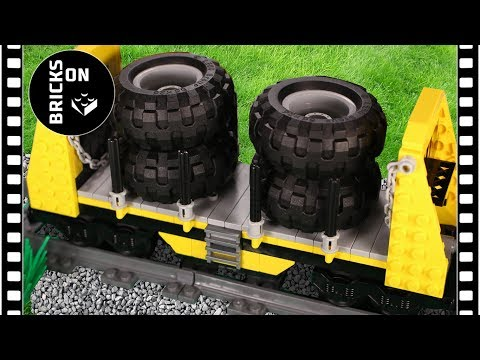 How to build Lego Bulkhead Freight Rail Car Wagon Building Instructions Lego Trains MOC 2018