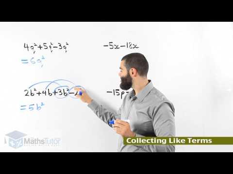 Australia's Maths Online - Addition & Subtraction of Algebraic Expressions Part 2)