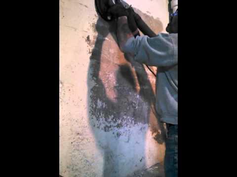 Basement paint removal