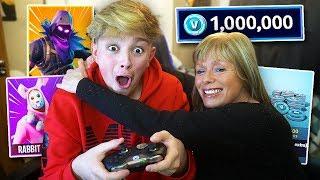 Mom surprises Kid with 10,000 V-Bucks... (Morgz)