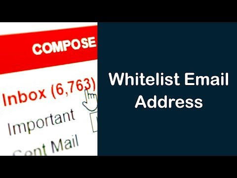How To Whitelist Email Address using Gmail