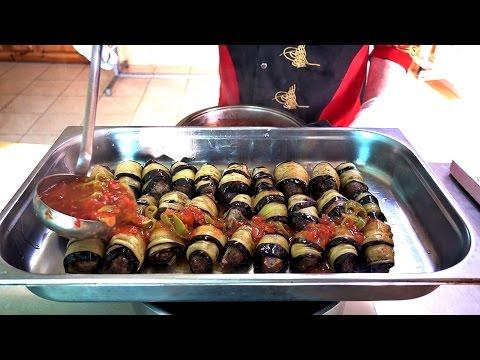 Eggplant Roll Wrap Meatballs Recipe Ottoman Cuisine Saray Kebab