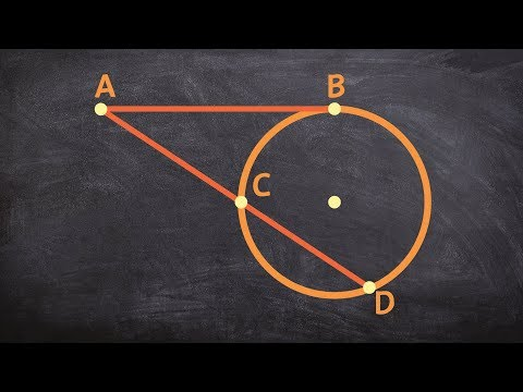 How do the lengths of tangent and secant line compare from a point outside of a circle