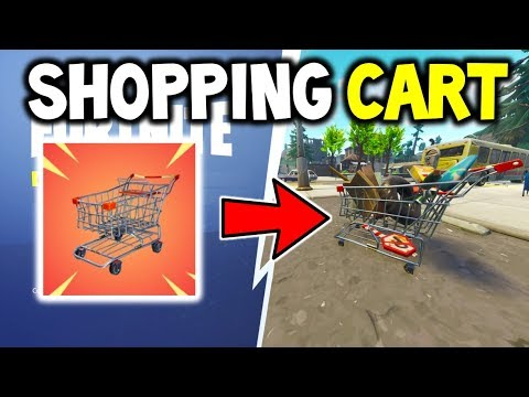 Fortnite SHOPPING CARTS GAMEPLAY Explained! - How To Drive the NEW SHOPPING CARTS IN FORTNITE?!