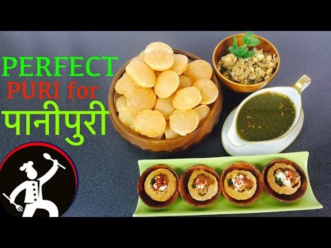 PANI PURI | 'पानीपुरी' | PERFECT CRISPY and EASY | How to make pani puri | Yummy Food World 🍴36
