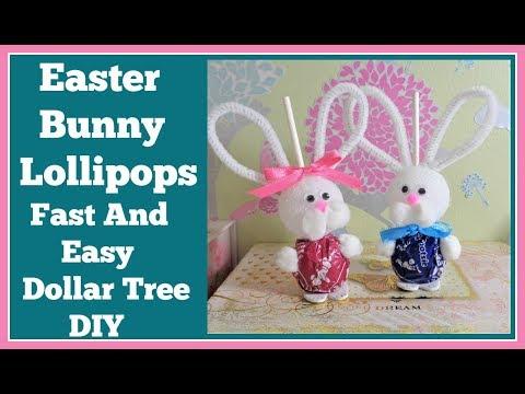 Easter Bunny Lollipops 🍭 Easy Dollar Tree DIY 🍭