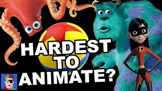 TOP 10 Hardest to Animate Things in Pixar
