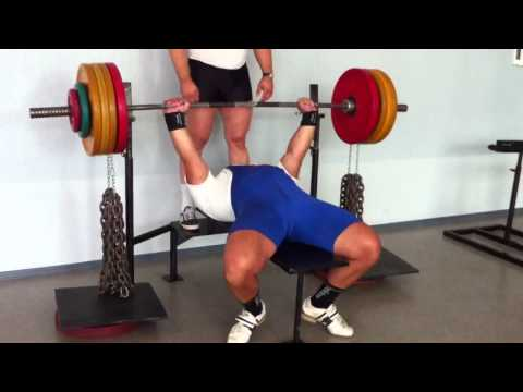 Incredible bench press with chains!