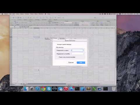How to Password Protect Excel Files in Office for Mac 2011 [HD][4K][Guide][Tutorial] 2017