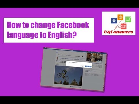 How to change Facebook language back to English [2018]