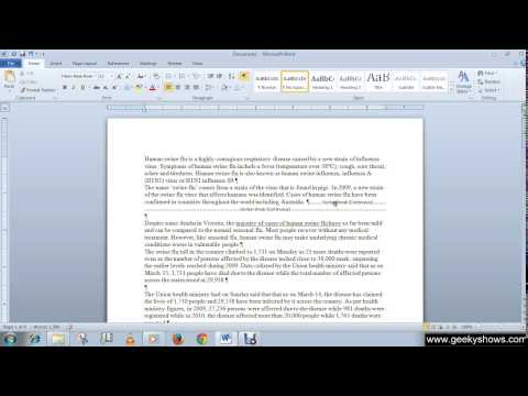 Microsoft Office Word 2010 Remove Page Breaks and Section Breaks