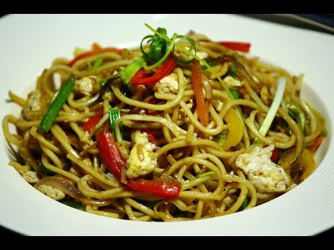 Egg Noodles Recipe - Chinese Egg Noodles - Egg Chowmein - Indian Popular Street Food