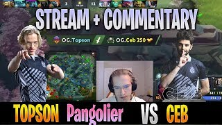 Topson - Pangolier MID Gameplay | vs Ceb (Rubick) | STREAM Face CAM with Commentary | Dota 2 Pro MMR
