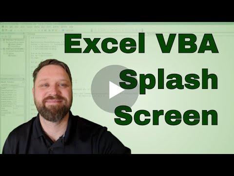 Excel VBA Splash Screen