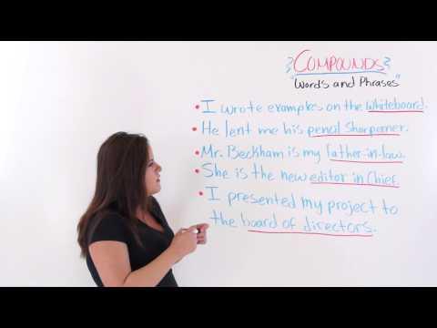 ESL English Lesson: Compound Words