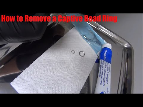 How to Remove the bead from Captive Bead Ring - Body Piercing Jewelry