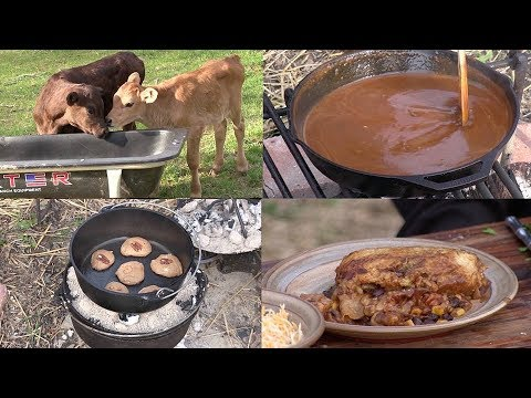 Dutch Oven Enchiladas With Homemade Sauce & Cake Box Cookies (Episode #603) Airdate 4/21/18