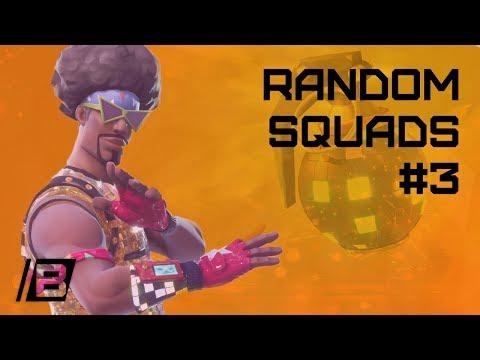 FORTNITE: Random squads #3 - Breaking the personal killrecord with 19 kills - Victory!