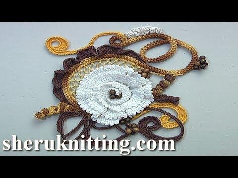 Irish Lace Crochet Video Tutorial 11 Part 1 of 2