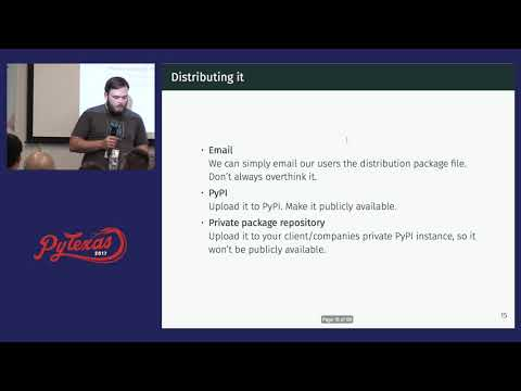 Steven Cutting - Practical Packaging For Machine Learning Solutions (PyTexas 2017)
