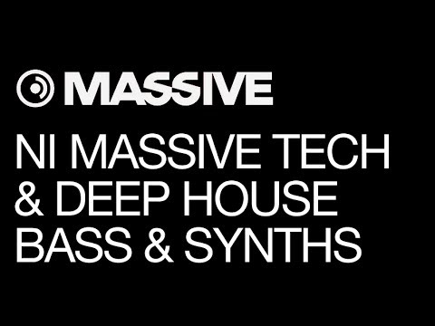 NI Massive tutorial - Tech & Deep House Production - pt 2 - Bass & Synths