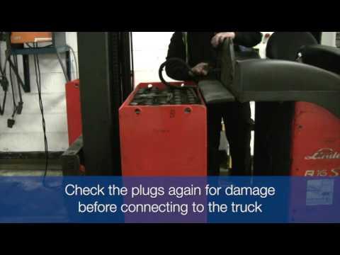 Reach Truck Battery Change